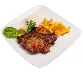 Tender veal steak