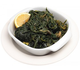 Boiled green leaf vegetables