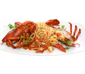 SPAGHETTI WITH L lobster FOR TWO PEOPLE